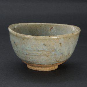 浜本洋好作 斑唐津茶碗 轡型 火前 唐津焼 三里窯