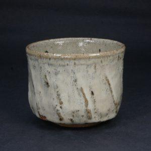斑唐津鎬筒茶碗 P144 浜本洋好作 唐津焼 三里窯